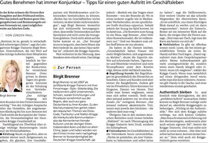 Birgit Brenner | Artikel in der Heilbronner Stimme vom 17.02.2009